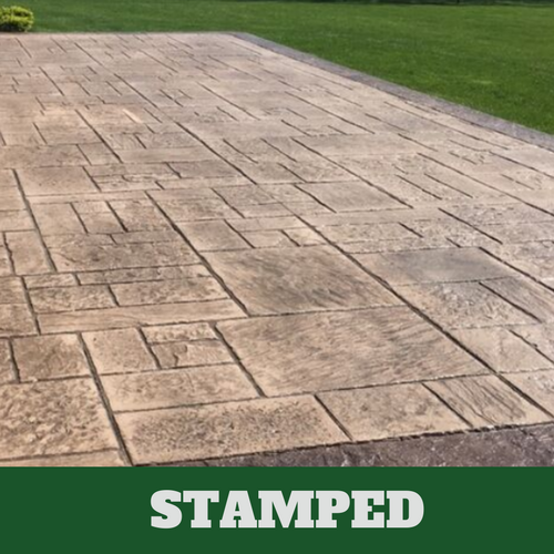 This is a picture of a stamped concrete.