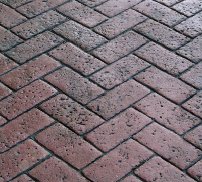 Paver style brick designed stamped concrete