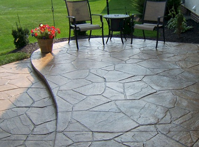 Stamped concrete patio in MIlford, CT.