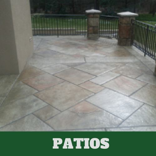 Picture of a stamped patio in Lansing, Michigan.